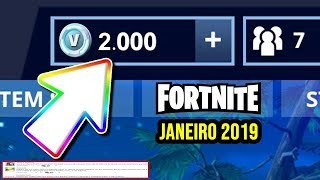 FORTNITE – HOW TO WIN 2000 V-BUCKS IN JANUARY 2019 AND...