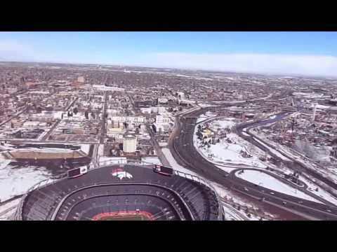 Blade 350 QX Flight above Sports Authority Field at Mile High
