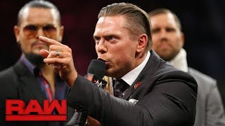 "During a heated installment of ""Miz TV,"" Raw General Manager Kurt A..."