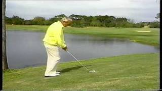 Arnold Palmer Attempts The Water Shot