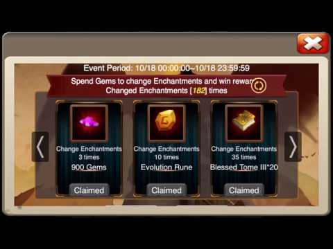 SPECIAL EVENT Changing 200 X ENCHANTMENTS Castle Clash