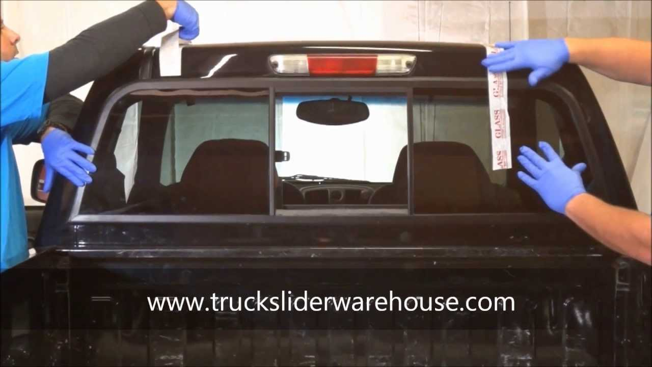How To Install A Sliding Rear Window Youtube
