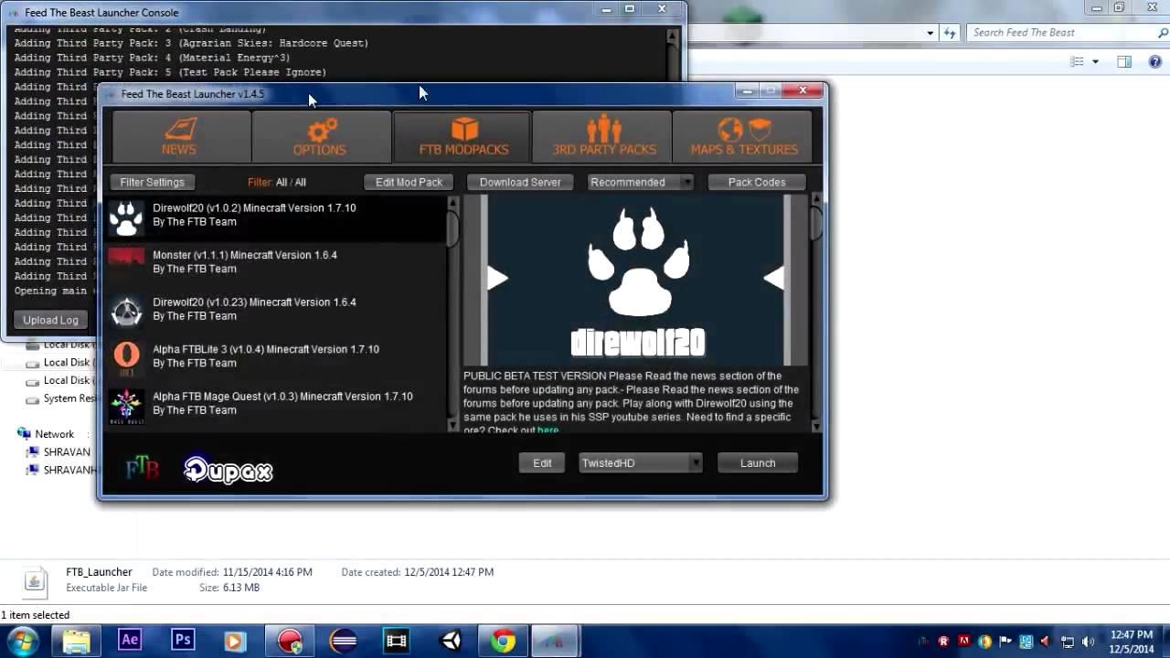FTB Cracked Java lang nullpointerexception ERROR FIX! Minecraft 1 7 10  Modpacks