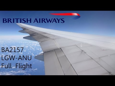 LGW-ANU *Full Flight* on British Airways BA2157 Boeing 777-200ER G-VIIR