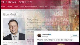 Elon Musk signs the
