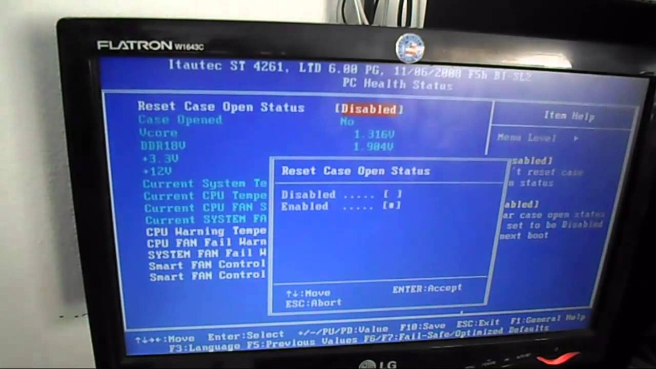 Como resolver chassis was opened please check or enter for Que significa hardware