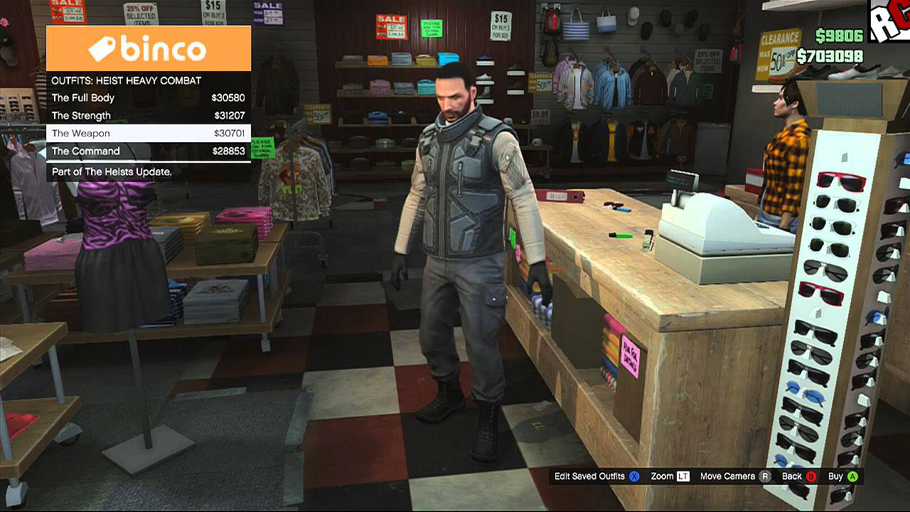 Grand Theft Auto 5 New Heist Outfits for the new Heist Online Update - Breaking Bad Easter Egg ...