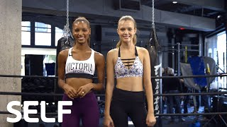 Video Victoria's Secret Angel Workout: 4-Move Total-Body Burn | SELF download MP3, 3GP, MP4, WEBM, AVI, FLV November 2017