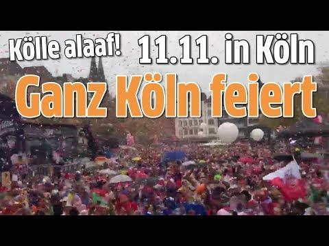 11.11. in Köln: Hammer Stimmung am Heumarkt und Tanzbrunnen