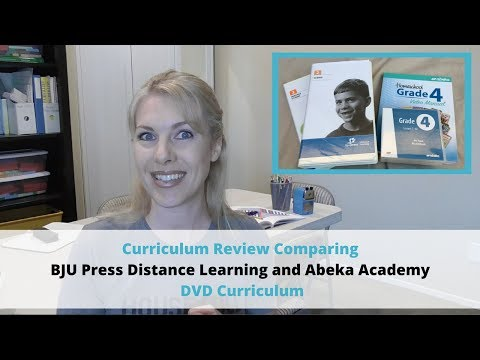 Curriculum Review Comparing BJU Press and Abeka DVD Curriculum