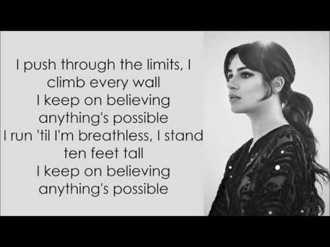 Lea Michele ~ Anything's Possible ~ Lyrics
