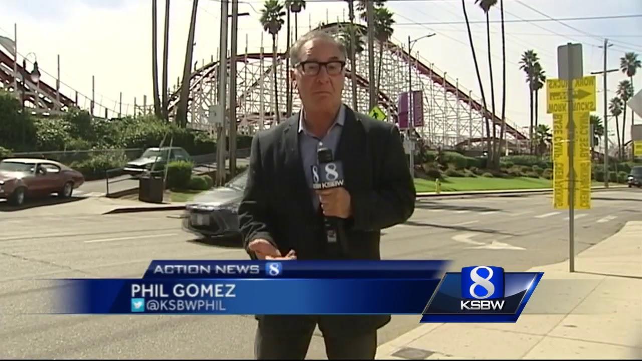 Movie shoot at Santa Cruz Beach Boardwalk