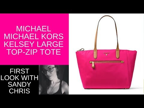 4e8ba16af2805 Check out the MICHAEL Michael Kors Kelsey Large Top-Zip Tote Review