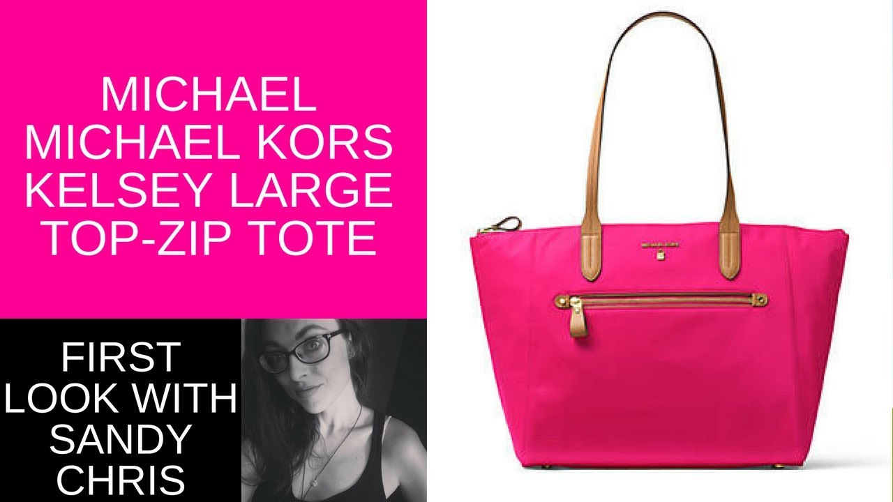 5fff8d8c006 Check out the MICHAEL Michael Kors Kelsey Large Top-Zip Tote Review ...