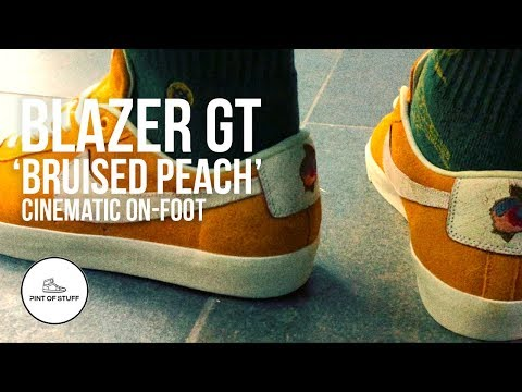 d833dd98e805 Following the unboxing of the Nike SB GT Blazer in the Bruised Peach  colorway … Mr B runs it through its cinematic onfoot paces to see what it  really looks ...
