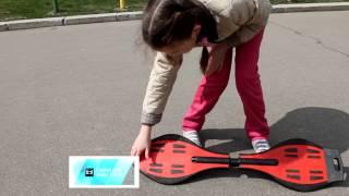 обучение катнию на двухколесном скейте.Вейвборд