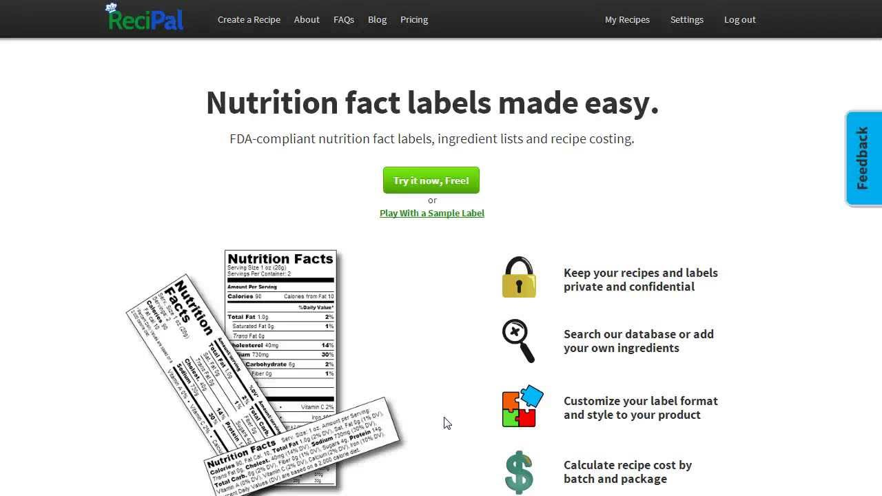 Create & Generate Nutrition Labels | Nutritional Label