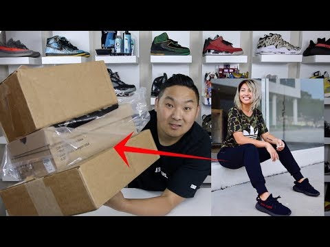 """KARMA IS REAL! AMAZING """"OFF WHITE"""" SNEAKER UNBOXING GIFT BY LYNABOOS!!!!"""