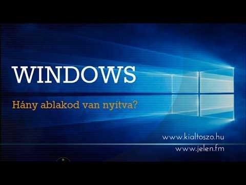 WINDOWS - Neked hány ablakod van nyitva?