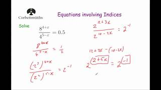 Equations with Indices - Corbettmaths