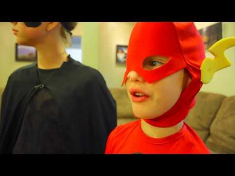 Superman vs Batman The Flash PART 2 in real life SuperHero Kids