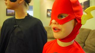 Superman vs Batman The Flash PART 2 in real life SuperHero Kids