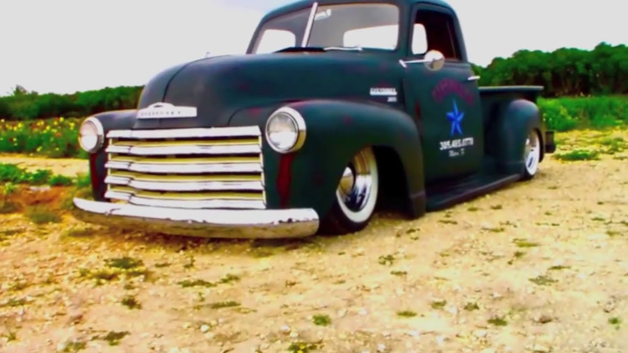Pickup 1952 chevy pickup for sale : Bagged 49 Chevy Truck, Patina Bagged Air Ride Truck - YouTube