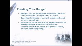 Personal Financial Planning, Budgeting