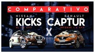 Renault Captur Intense 1.6 CVT X Nissan Kicks SL 1.6 CVT - RACIONAUTO