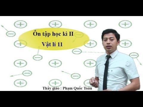 Ôn tập học kỳ II – Vật lý 11 – Thầy Phạm Quốc Toản