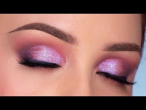 SPARKLY Purple Smokey Eye Makeup Tutorial thumbnail