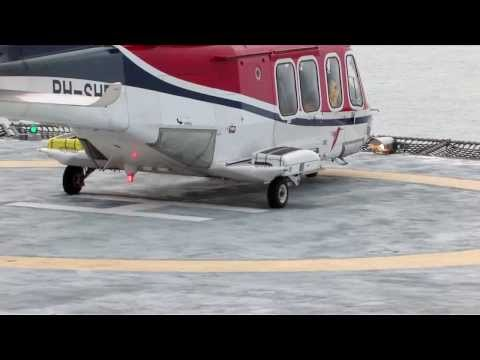 Heli landing offshore