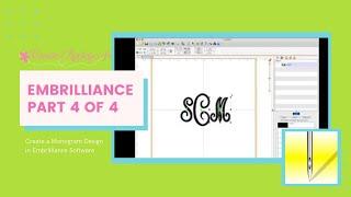 #4 من 4: إنشاء حرف واحد فقط من تصميم في Embrilliance