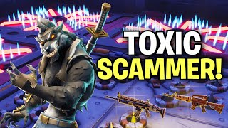 Highly Toxic Scammer Nearly Scams Me! (Scammer Get Scammed) Fortnite Save The World