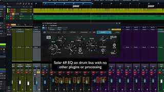 PreSonus Fat Channel Plug-in Demo: Solar 69EQ