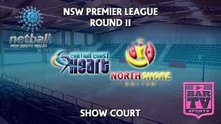 2018 Netball Round 11 - U20s/Opens - Showcourt - Central Coast Heart v North Shore United