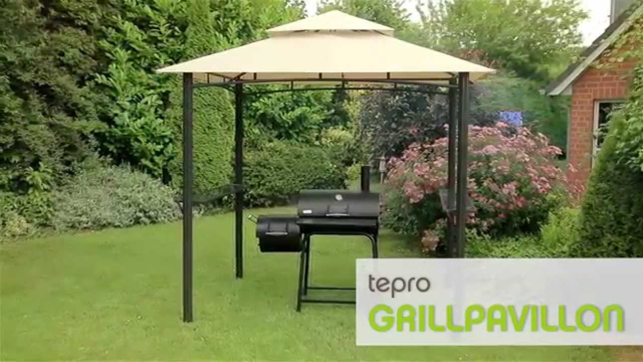 Tepro grillpavillon mit doppeldach youtube for Grill pavillion