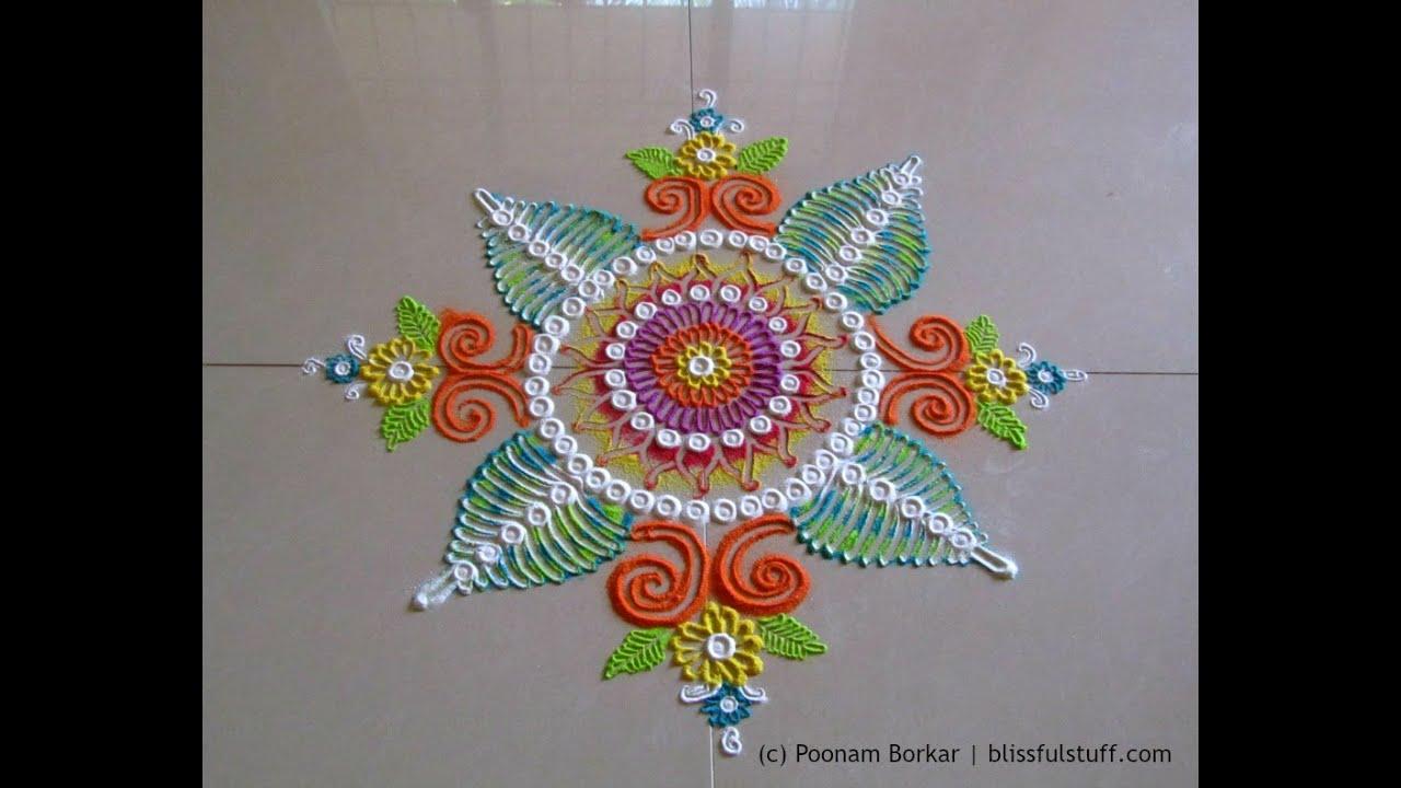 how to draw sanskar bharti rangoli by hand
