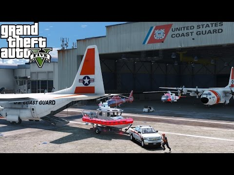 GTA 5 LSPDFR USCG Coastal Callouts Beta | United States Coast Guard C-130, Jayhawk, Dolphin & More