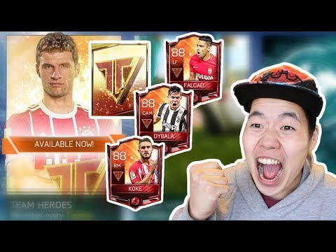 Massive Fifa Mobile 18 Team Heroes Pack Opening - We FInally Pulled a Team Hero