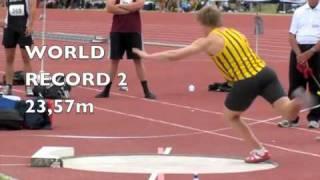 SHOT PUT Jacko GILL 23,86m 5kg World Youth record.m4v