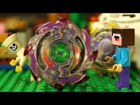 Бейблэйд Бёрст АРЕНА и GRANNY - LEGO НУБик Майнкрафт Five Nights at Freddy's Minecraft Animation