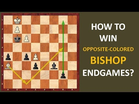How to Win the Opposite-colored Bishop Endgames?