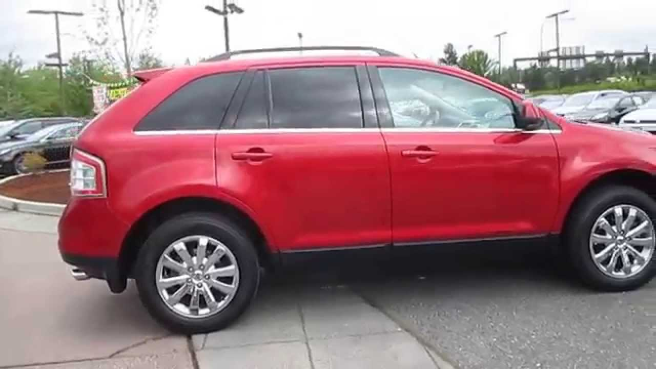 Ford Edge Red Candy Metallic Stock  A Walk Around