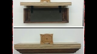 I made a secret compartment shelf using ambrosia maple and stain grade crown molding. When the shelf is opened, it reveals a