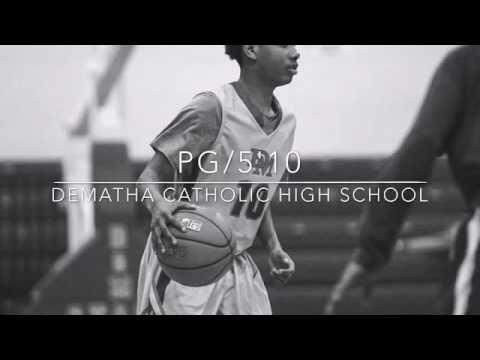 "Jhabari Humbert  PG/5'10""  Class of 2017 DeMatha Catholic High School  Hyattsville, MD"