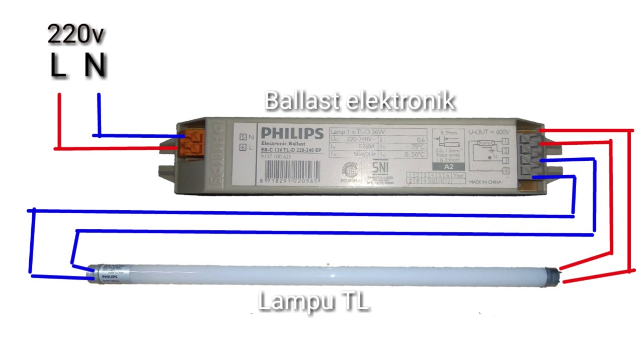 Wiring Lampu Pendaflour