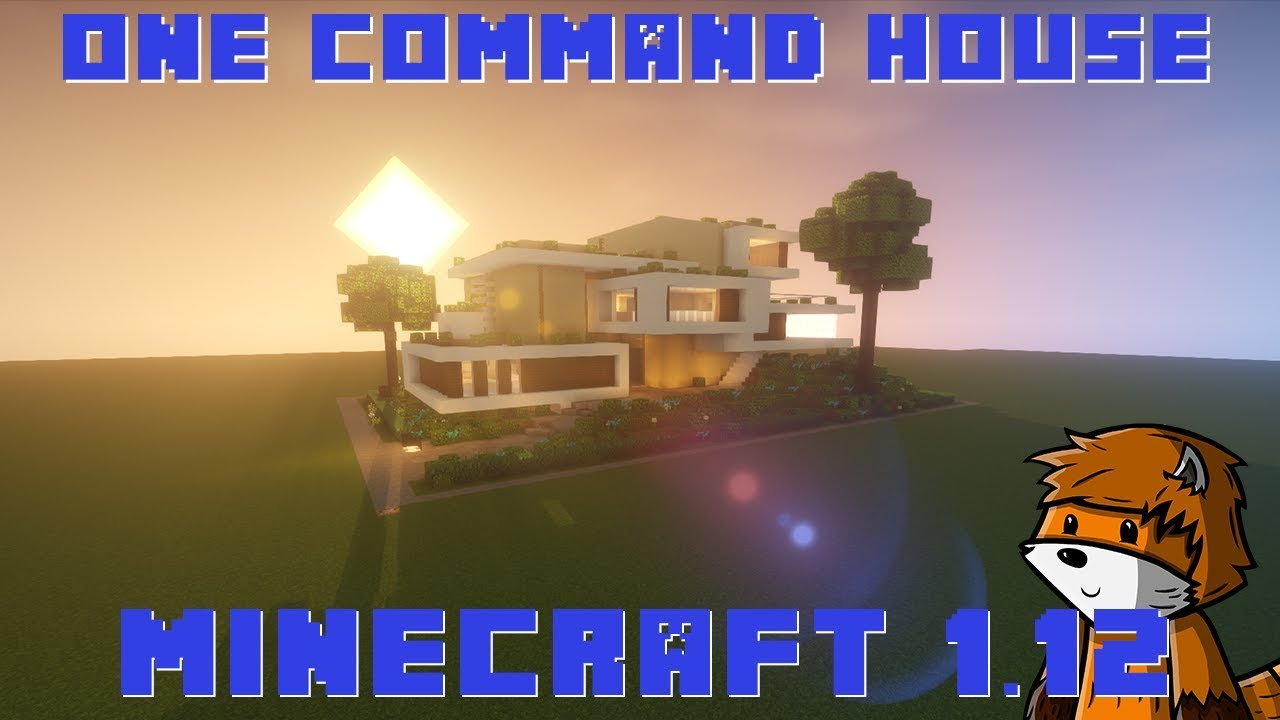 Modern House In One Command   Minecraft 1 13