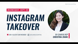 Instagram Team Takeover with Campus Rep Christina Zhang
