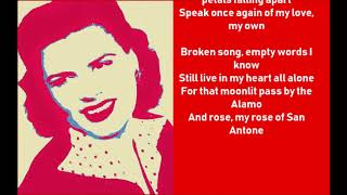 PATSY CLINE   SAN ANTONIO ROSE  lyrics